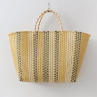 Nylon Stripe Tote Bag