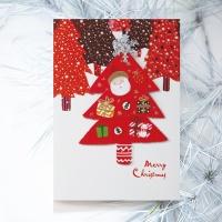 크리스마스카드/성탄절/트리/산타 트리 데코레이션 FS1023-2