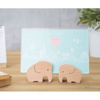 [CARPENTER] ELEPHANT COUPLE PHOTO FRAME