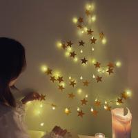 인테리어 소품 크리스마 별 가랜더 벽트리