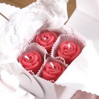 미니 장미 캔들 8P(레드-러블리)