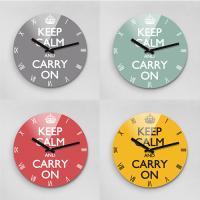 Reflex KEEP CALM 무소음벽시계(대) KCR280시리즈 7종