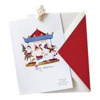 크리스마스카드/성탄절/트리/산타 회전목마 산타(FS202-6)