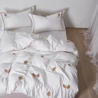 [클라모프] 네추럴 화이트 침대커버 세트