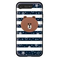 라인프렌즈 iPhone7 BROWN Stripe-N LIGHT CASE
