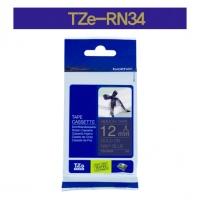 [부라더정품]리본테이프 비접착 TZe-RN34(12mm x 4M) (남색바탕/금색글씨)