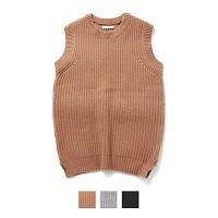 Merino Wool V Neck Vest Knit