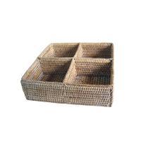 미얀마 라탄 화장품정리함/칸막이수납함 칸막이정리함 서랍정리함