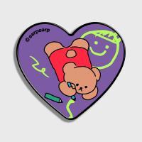 Doodle bear-purple(하트톡)