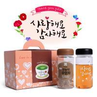 볶은 무농약우엉차 9티백보틀 감사보틀 선물세트 LB