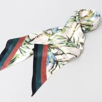Silk Bird Triangle Long Scarf
