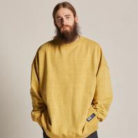 라벨 로고 피그먼트 스웨트셔츠 (머스타드)