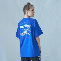 믹스 컬러 티셔츠 (블루)