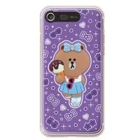 라인프렌즈 iPhone7 CHOCO Violet LIGHT CASE