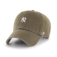 MLB모자 뉴욕 양키즈 샌달우드 화이트미니로고