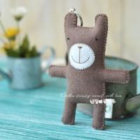[DIY] 아기 곰돌이 펠트 열쇠고리 만들기 세트