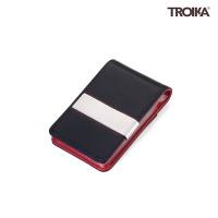 [트로이카] 가죽 카드&머니클립 블랙/레드 (CCT52/LE)