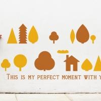 작은숲 (북유럽풍 나무) - 완제품A타입 그래픽스티커