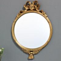 (kkjj245)리프리본 원형거울 골드