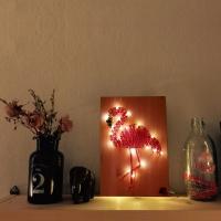 LED 플라밍고 스트링아트 만들기 패키지 DIY