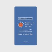 [어프어프] 보조배터리 Nice weather-light blue