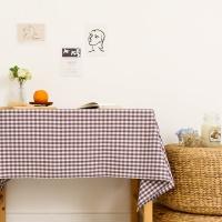 멜란체크 퍼플 면식탁보 테이블보