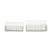 [House Doctor]Storage Mail set of 2 pcs white Medium Ph0251 디자인바스켓