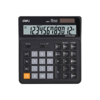 DELI 델리  사무용 계산기 EM01020-블랙