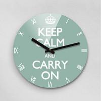 Reflex KEEP CALM HEMLOCK 무소음벽시계(대) KCR280-HMT
