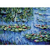 아이엠미니 DIY 별빛 명화그리기 40x50_연꽃 핀 연못