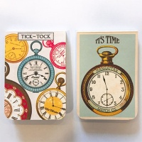 카발리니 포켓노트-vintage clock
