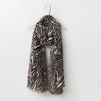 Brown Zebra Scarf