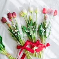 레터링 튤립 꽃다발