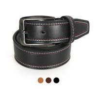 [디꾸보]흑사각 버클 배색 스티치 남성벨트 DCB-ST520