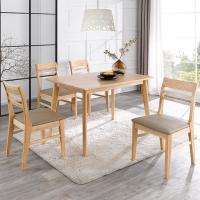 덴코2 4인 원목 식탁 세트(의자형)