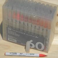 [Kuretake] 천연모 브러쉬팁의 캘리그라피,수채화붓..일본 쿠레다케 지그 Clean Color Real Brush 60색 Set HF132-6