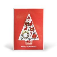 크리스마스카드/성탄절/트리/산타 레드트리 (FS206-2)