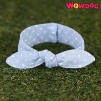 WOWDOG 와우독 애견 리본스카프 - 청지 스몰도트