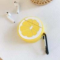 에어팟케이스 실리콘 충전 커버 키링고리 1/2_레몬268