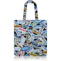 nother License Plates Flat Tote Bag (Black) / 나더 라이센스 플레이트 플랫 토트백