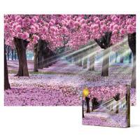 1000피스 직소퍼즐 - 분홍빛으로 가득한 가로수 길