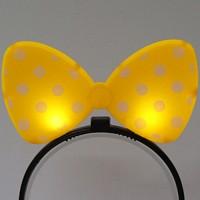 LED점등 리본머리띠 (옐로우)
