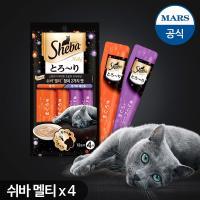 짜먹는 고양이간식 쉬바 멜티48g(12gx4)x4팩