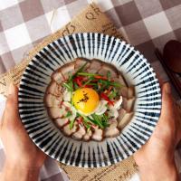 일본식기 야나기 와이드 면기