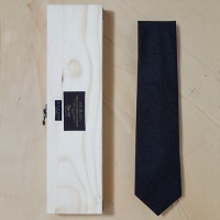 [PLAIN KNOT] PB9AN003-DG-1 / fabric by canonico solid wool tie / 까노니코 솔리드 울타이