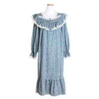 [쿠비카]플라워 모달 코튼 원피스 여성잠옷 W500