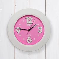 오리엔트 큰숫자 야광 OT619 핑크 인테리어벽시계