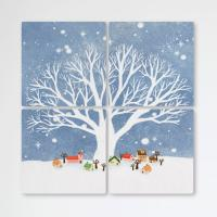 tb659-멀티액자_겨울나무밑의마을