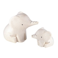 T-LAB [LOT01] POLEPOLE MOM&BABY ELEPHANT