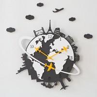 NEW ECO 세계여행 무소음 벽시계